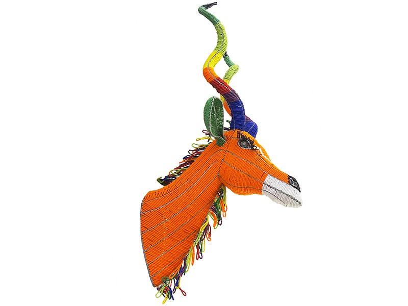 Colourful Beaded Kudu Trophy Head