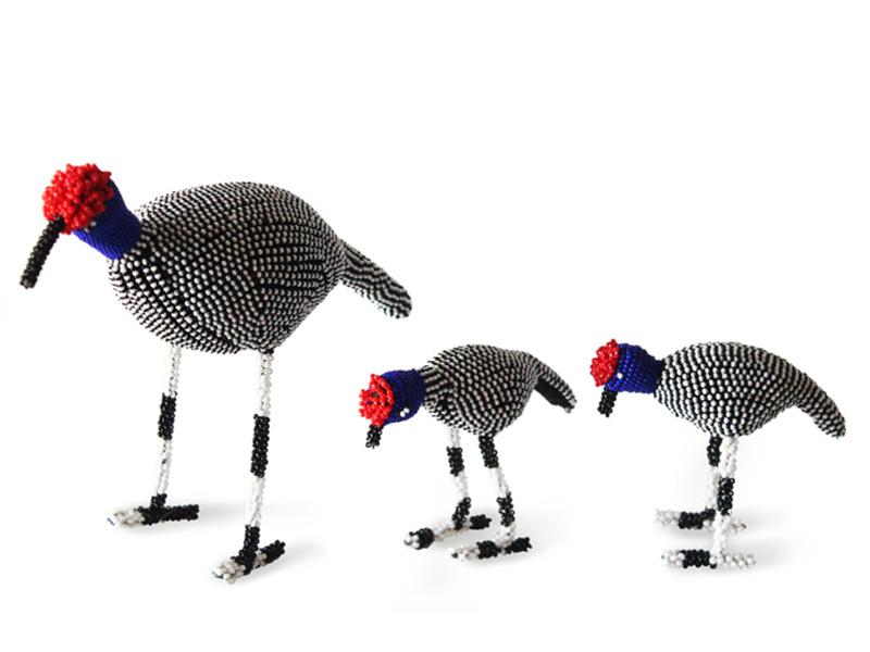 Zulu Beaded Guinea Fowl