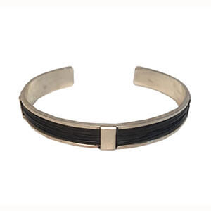 10 mm Silver Ladies Elephant Hair Bangle