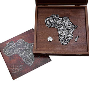 Puzzle Of Africa 36 Pieces In Wooden Box Puzzles