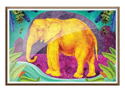Africa Dreaming Elephant Print