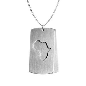 Stainless Steel Africa Dog Tags