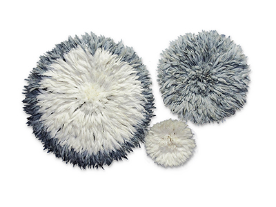 Juju Feather Hat Set - Grey & Ivory