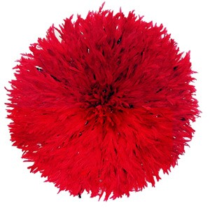 Juju Feather Hat Red - 80cm