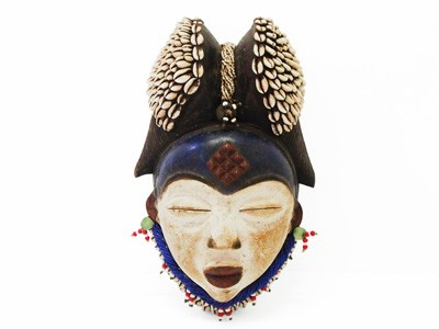 Punu Mask with Cowrie Shells - 1