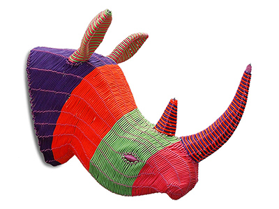 Colourful Rope Rhino Head