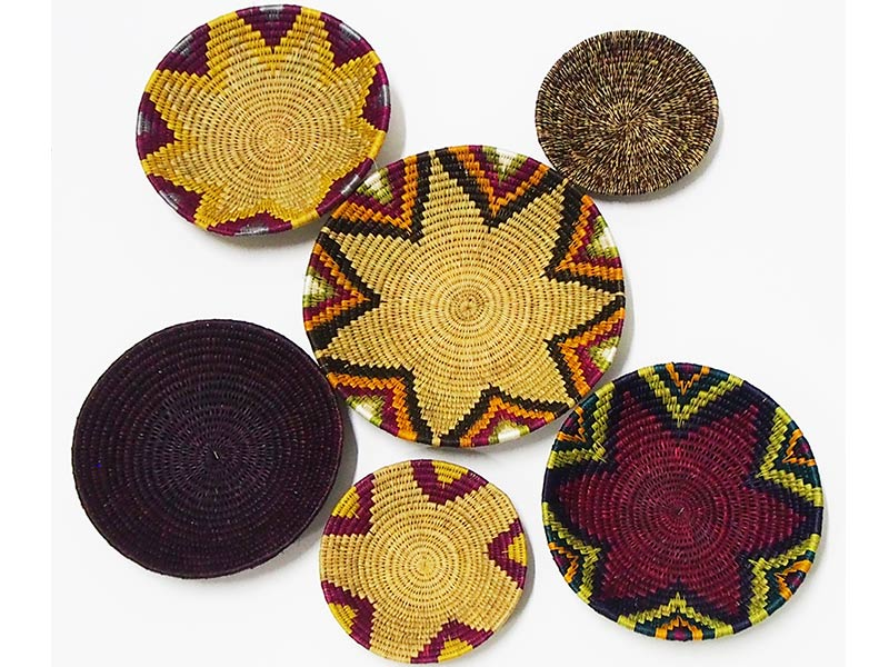 6 Piece African Basket Set - 5